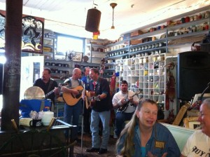 Old time music in the store