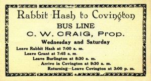 Craig Bus Line Advertisement circa 1930s