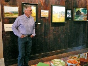 Artist Mike Phillips at the Landscape Opening